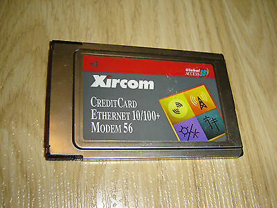 Xircom Cem56-100 Pc Card Ethernet 10/100 Network + Modem 56 Laptop Pcmcia Slot