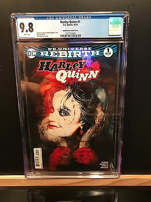 Dc Harley Quinn: Rebirth #1 Cgc 9.8! Variant Cover First Print! Brand New Case!