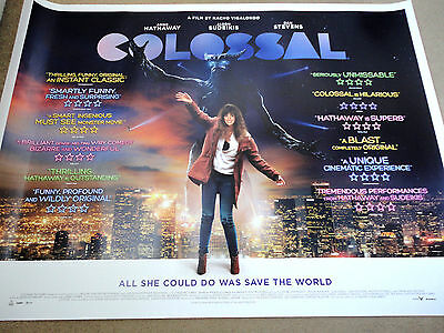 "Colossal (2016), Anne Hathaway, Original UK Cinema Quad Poster 30""x40"""