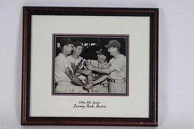 1946 Red Sox-Ted Williams Signed All-Stars at Fenway Park 7x9 Wire Photo - JSA