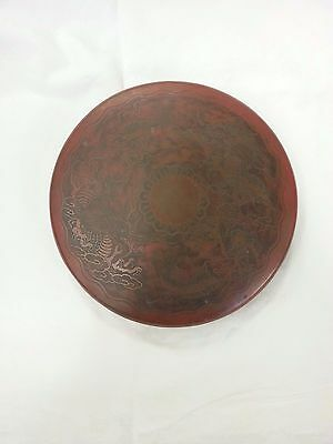 Old or Antique Japanese Bronze Gong with Two Dragon Decoration