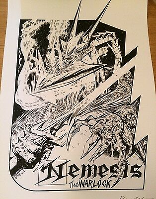 Signed Nemesis The Warlock By Kevin O'Neill 2000AD Gosh London Exclusive New