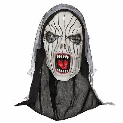 Halloween Shrieking Banshee Maschera GOMMA di Lattice con Cappuccio Horror