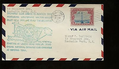 US Flight Event Cover Aviation Tour With Lt Walter Hinton 1931 Fargo, ND