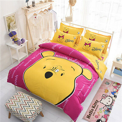 Winnie The Pooh Bedding Set Cover Bed Duvet Cover Queen And Twin For Kids