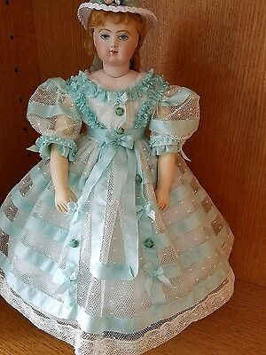 Antique Reproduction Huret Davida Dior Porcelain Doll