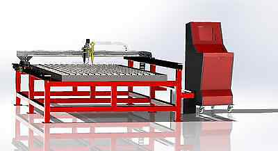 CNC plans for building plasma table 1500 x 3000 with water tray and control box