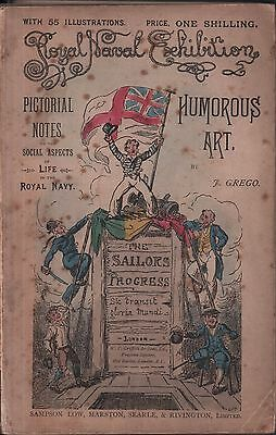 Royal Naval Exhibition Humorous Art 1891 navy Victorian cartoons rare Grego