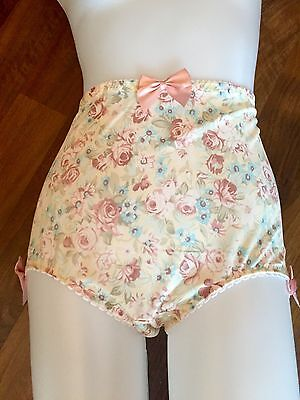 Vintage Firm Controle Pantie Girdle Floral knickers Sissy Glamour Lingerie NEW