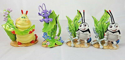 LOT OF 4 Disney A BUG'S LIFE Beautiful Painted Porcelain Figurine Statues
