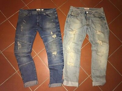 Stock di 2 Jeans UOMO size 48 GUESS PULL&BEAR