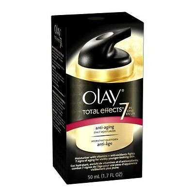 Olay Total Effects 7 In 1 Anti Aging Daily Moisturizer 1.7 fl. oz. *OPEN BOX*