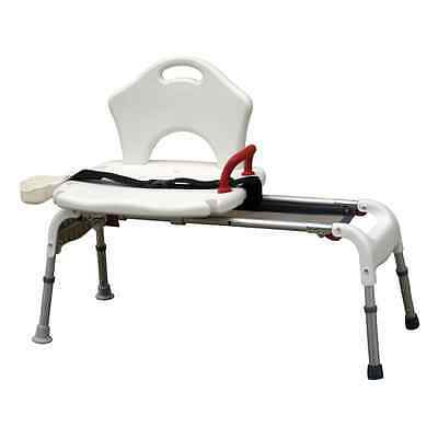 Folding Universal Sliding Transfer Bench Bath Safety 300lb Capacity #RTL12075
