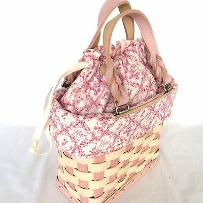 2006 Small Tote BASKET Horizon of Hope Set Longaberger New Breast Cancer New