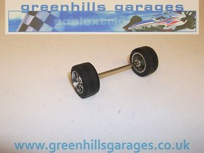 Greenhills Scalextric Cadillac Northstar front axle / wheels / tyres P1218