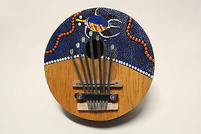 Ap Hand Crafted Coconut Shell Kalimba 7 Keys Turtle Artwork Mbira Thumb Piano