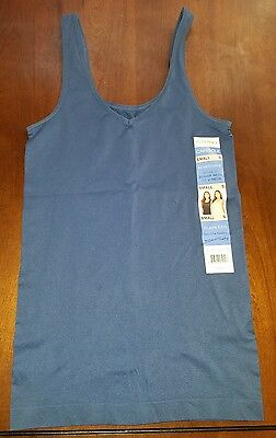NWT Womens Steel Blue ELLEN TRACY Reversible V-Neck or Scoop Camisole Medium M