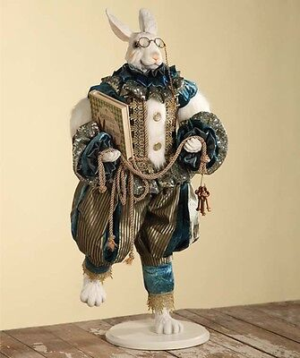 Adventure of the White Rabbit Doll  - Alice in Wonderland Bethany Lowe Easter