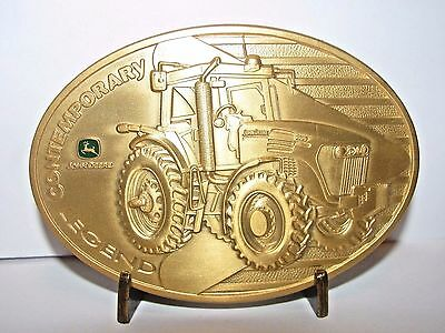 John Deere 7720 Tractor 2005 Belt Buckle Contemporary Legend LE  1st Series GOLD