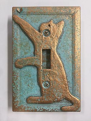 Cat/Kitten Light Switch Cover - Aged Patina