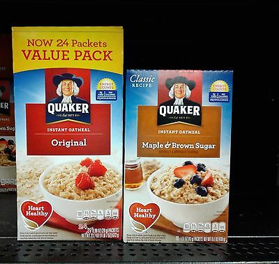 QUAKER ~ Instant Oatmeal – Many Varieties!