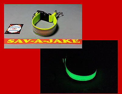 Sav-A-Jake Firefighter Glow/Reflective Glove Strap Quick Release - Hi Viz Yellow