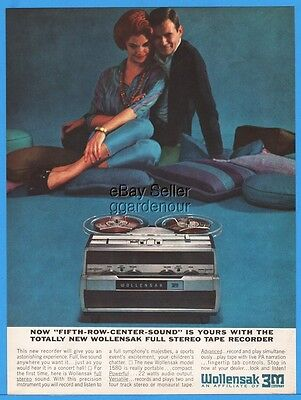 1963 Wollensak 3M Stereo Tape Reel to Reel Recorders 5th Row Center Color Pic Ad