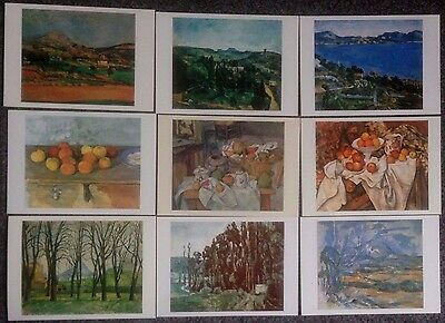 Lot Of 9 Postcards Of Impressionist Paintings By Paul Cezanne