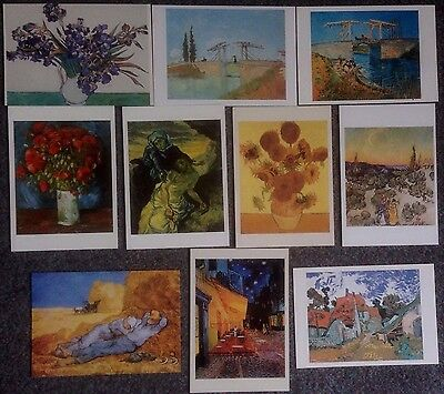 Lot Of 11 Postcards Of Paintings By Vincent Van Gogh