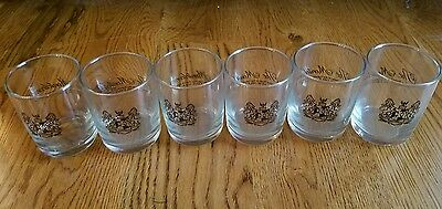 Set of 6 VINTAGE Monteleone Hotel New Orleans water bar glass MARDI GRAS