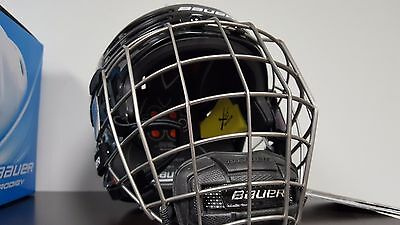 Bauer Re-Akt 75 SR Black Hockey Helmet Combo Medium Brand New
