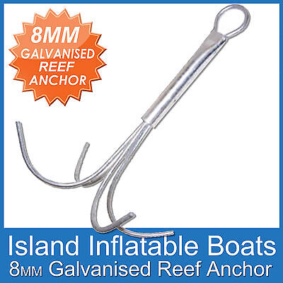 REEF ANCHOR ✱ 8mm 4 Prong ✱ Hot dipped Galvanised Boats up to 5 Metres FREE POST