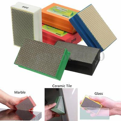 60-3000 Grit Diamond Polishing Hand Pads Block Style For Granite Marble Stone GK