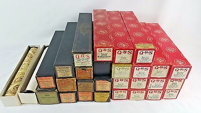 Lot 29 QRS Supertone Voltem PLAYER PIANO MUSIC WORD ROLLS Good Condition