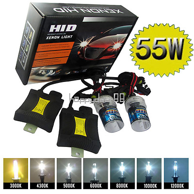 55W Xenon Light HID Conversion Kits H1 H3 H7 880 2 Xenon Bulbs + 2 Slim Ballasts