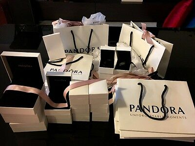 20 Authentic Pandora Gift Boxes and 11 Gift Bags
