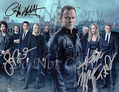 24 Live Another Day CAST Kiefer Sutherland Signed Autograph RPT RP