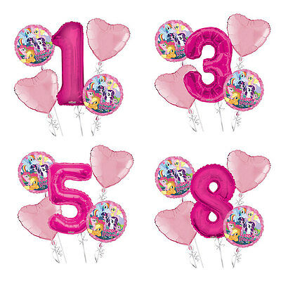 My Little Pony Happy Birthday 1-9 Balloon Bouquet 5 pcs Girls Birthday Party