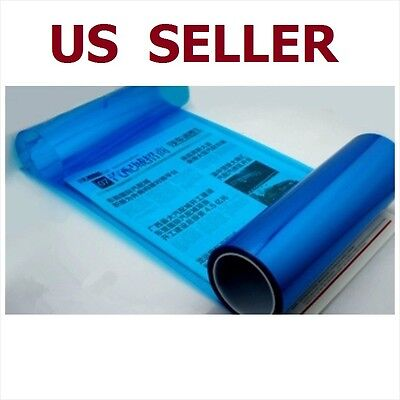 "312"" x 48"" Car Tint Headlight Taillight Fog Light Vinyl Smoke Film Sheet Blue"