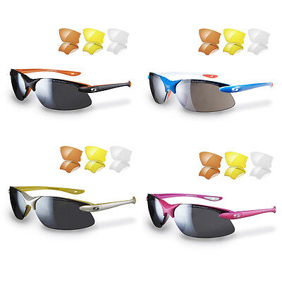 Sunwise Windrush sunglasses and pouch - interchangeable lenses - Cycling glasses