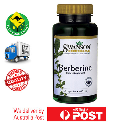 Pure Berberine 400 mg 60 Caps by Swanson - Berberis Aristata Root - BEST PRICE