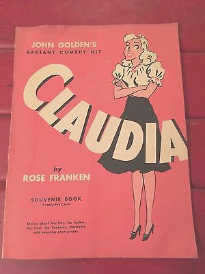 CLAUDIA, Souvenir Book, Broadway, Booth Theatre February 12, 1941-March 7,1942