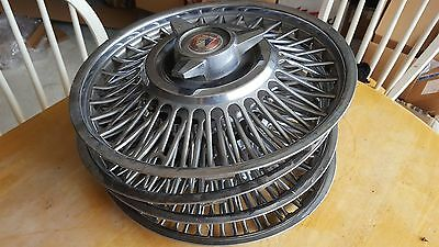 4- NICE FORD WIRE SPINNER 13 inch Wheel Cover Hubcaps FALCON COMET  60 63 64 65