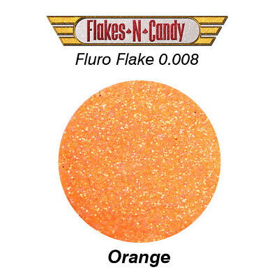 Metal Flake Hologram Flake Glitter (0.008) Paint Flakes 30G Fluro Orange