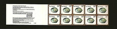 New Zealand 1980 Paua 20 Cent Booklet of 10 MNH