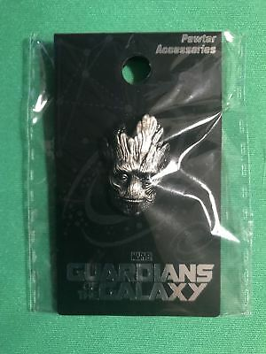 GOTG GROOT HEAD PEWTER LAPEL PIN - Vault 35
