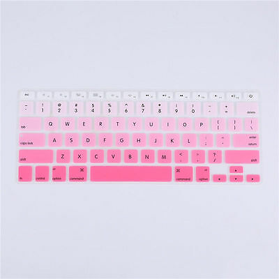 """Silicon Decal Keyboard Cover Sticker Keypad Skin for Macbook Air Pro 13""""15""""17"""