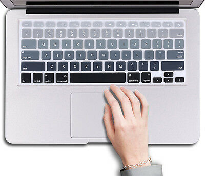 "US Silicone Keyboard Cover Sticker Keypad Skin for Macbook Air Pro 13""15""17''"