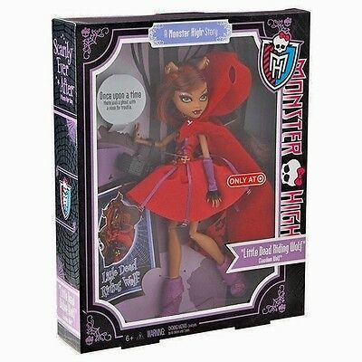 Monster High Scarily Ever After Clawdeen Wolf Little Dead Riding Wolf Doll NIB
