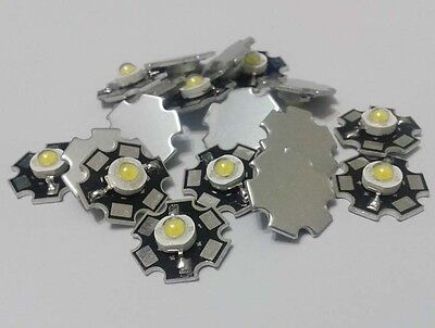 1W/3W White High Power LED Diodes Light Emitter 6000-6500K 20mm Base 5-1000pcs